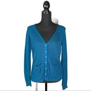 Sparrow Open Knit Button Front Cardigan